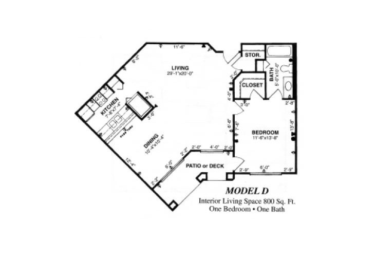 Forum at Tucson Assisted Living Model D Floor Plan