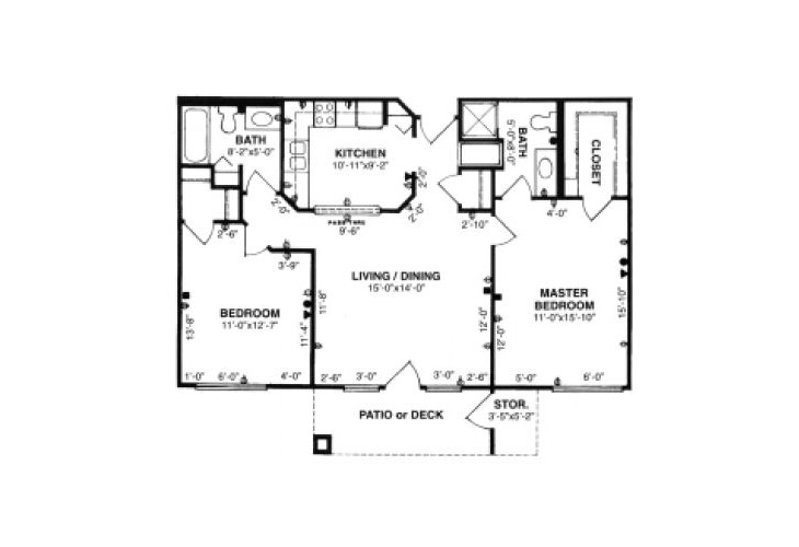 Forum at Tucson Independent Living Model E Floor Plan
