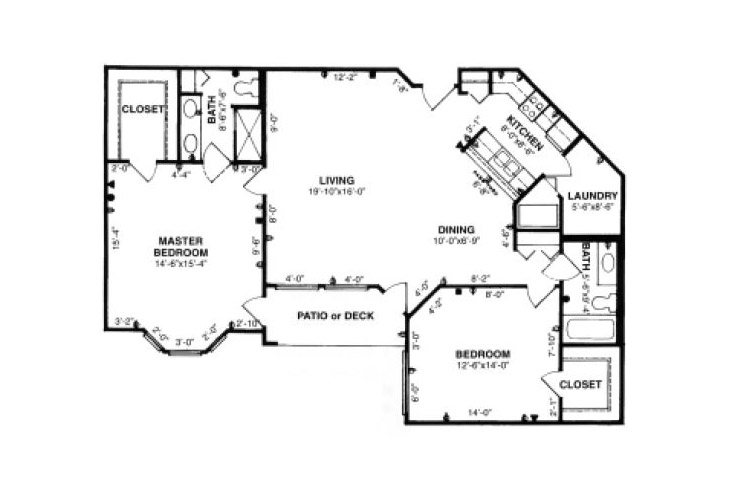 Forum at Tucson Independent Living Model F Floor Plan