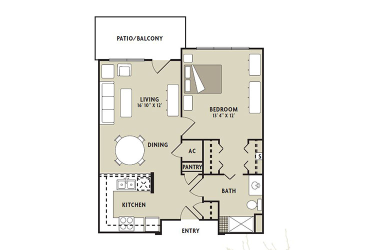 Forum at The Woodlands Assisted Living Azalea Floor Plan