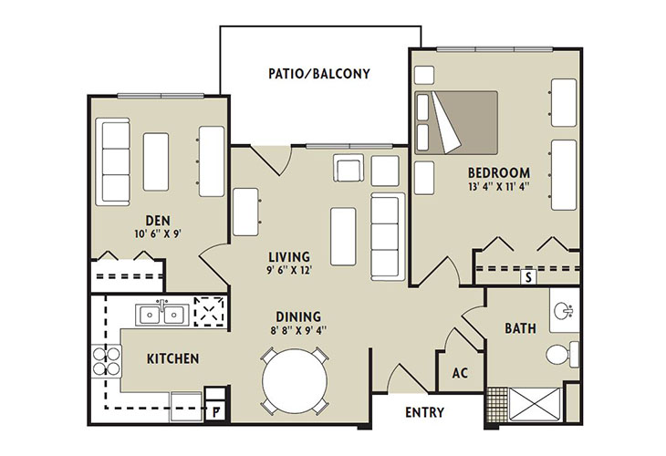 Forum at The Woodlands Independent Living Birch Floor Plan