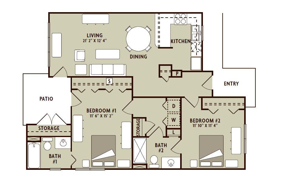 Forum at The Woodlands Memory Care Cypress Floor Plan