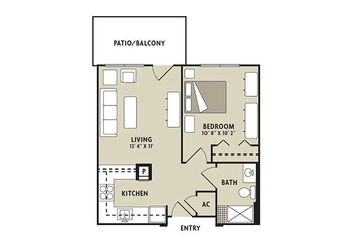 Forum at The Woodlands Independent Living Poplar Floor Plan