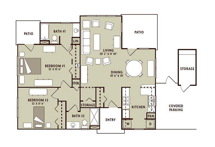 Forum at The Woodlands Independent Living Sycamore Floor Plan