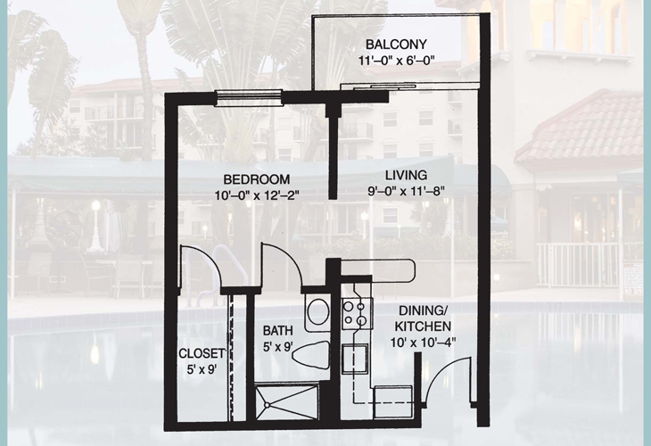 Fountainview Independent Living Deluxe Suite Floor Plan