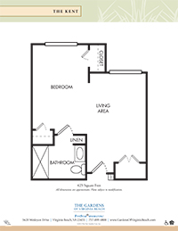 Gardens of Virginia Beach Memory Care Kent Floor Plan
