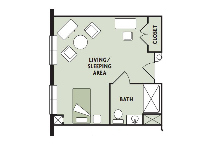Haven Laurels Carolina Place Memory Care Alcove Floor Plan