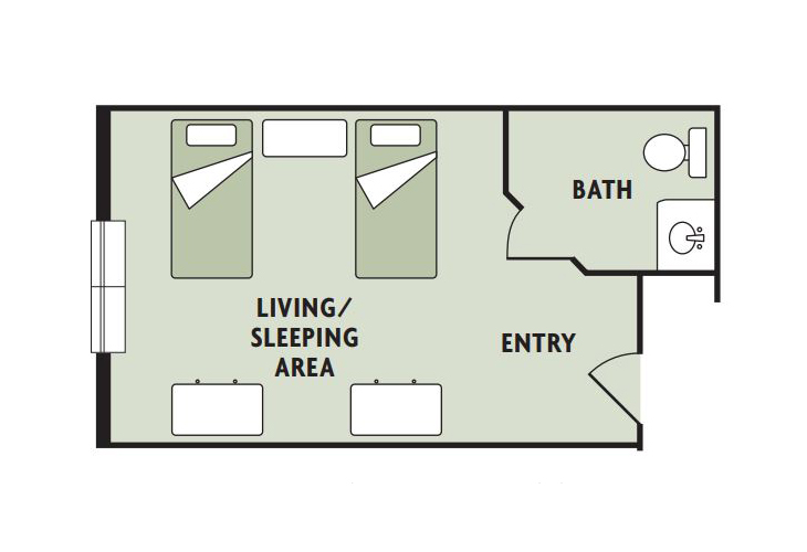 Haven Laurels Carolina Place Assisted Living Companion Suite Floor Plan
