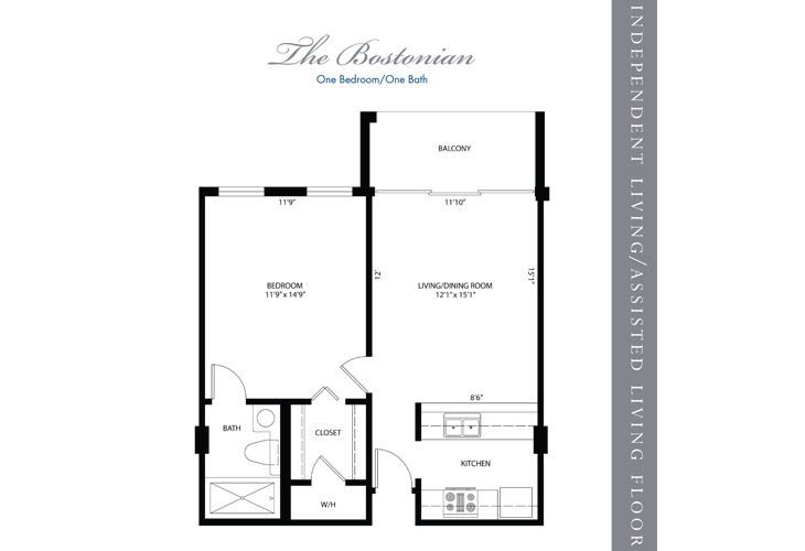Hollywood Independent Living Bostonian Floor Plan