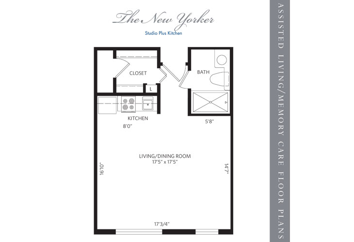 Hollywood Assisted Living New Yorker Floor Plan