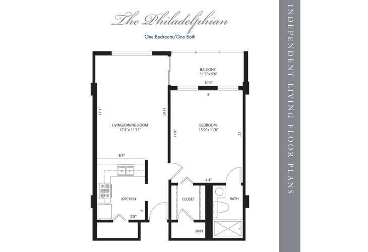 Hollywood Independent Living Philadelphian Floor Plan