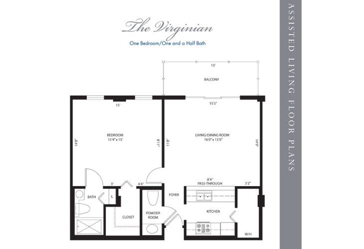 Hollywood Assisted Living Virginian Floor Plan