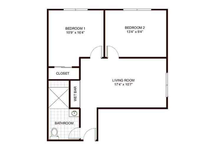 Home Place Burlington Memory Care Two Bedroom