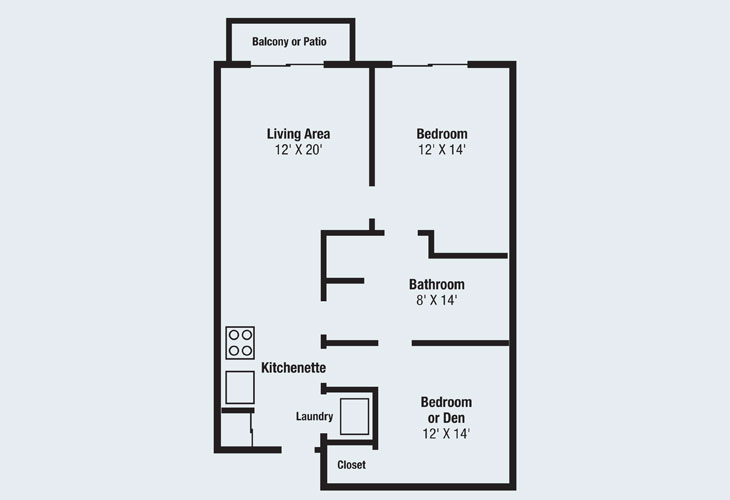 Jackson Crossings Assisted Living Floor Plan D - Two Bedroom