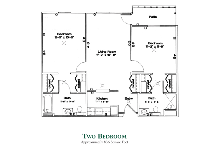 Jefferson Manor Independent Living Two Bedroom