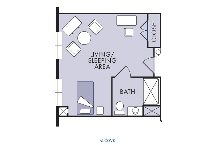 Laurel Haven Highland Creek Assisted Living Alcove Floor Plan
