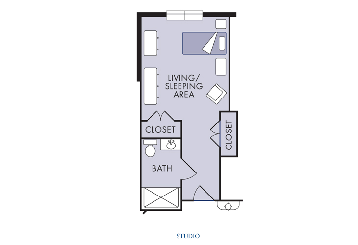 Laurel Haven Highland Creek Memory Care Studio Floor Plan