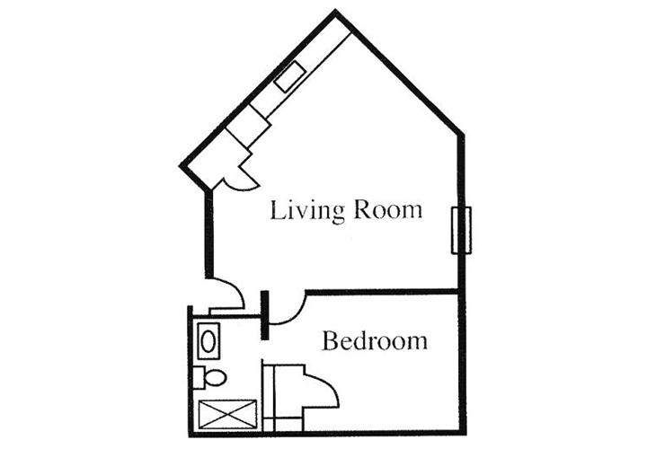 Legacy of Anderson Independent Living One Bedroom Floor Plan