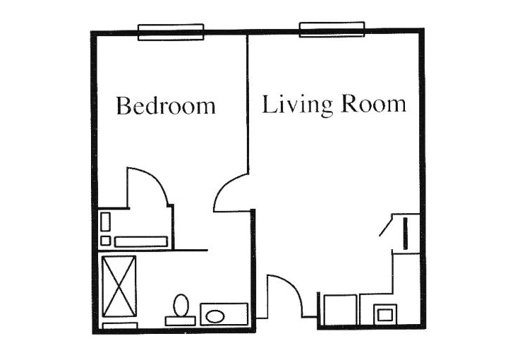 Legacy of Anderson Independent Living One Bedroom (1) Floor Plan