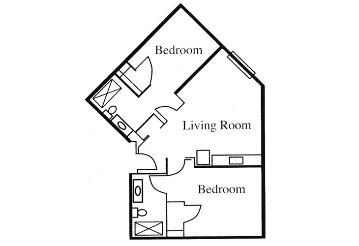 Legacy of Anderson Independent Living Two Bedroom Floor Plan