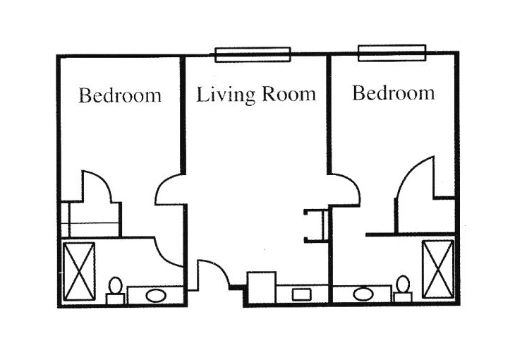 Legacy of Anderson Independent Living Two Bedroom (1) Floor Plan