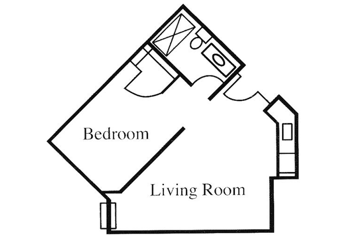 Legacy of Anderson Independent Living Studio Floor Plan