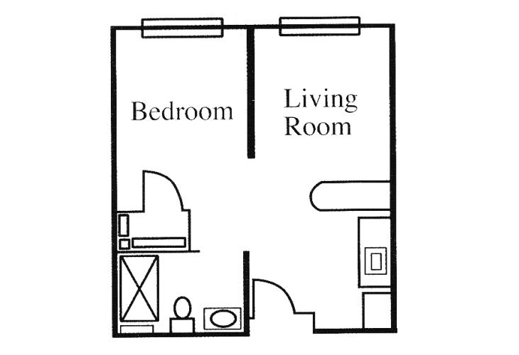 Legacy of Anderson Independent Living Studio (1) Floor Plan