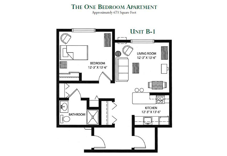 Meadowmere Madison Assisted Living One Bedroom (1)