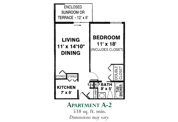 Meadowood Independent Living Apartment A-2