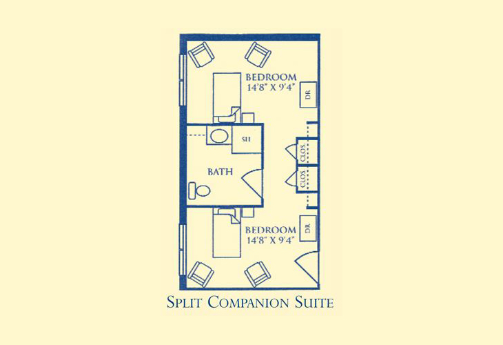 Morningside Bellgrade Assisted Living Split Companion Suite