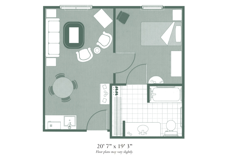Morningside of Hopkinsville Assisted Living One Bedroom Floor Plan