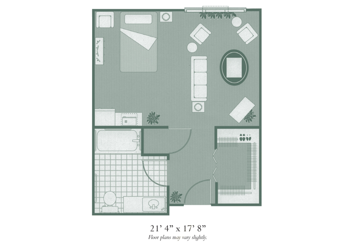 Morningside of Hopkinsville Assisted Living Studio Deluxe Floor Plan