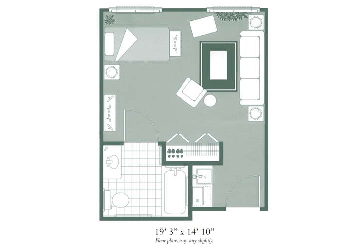 Morningside of Hopkinsville Assisted Living Studio Floor Plan