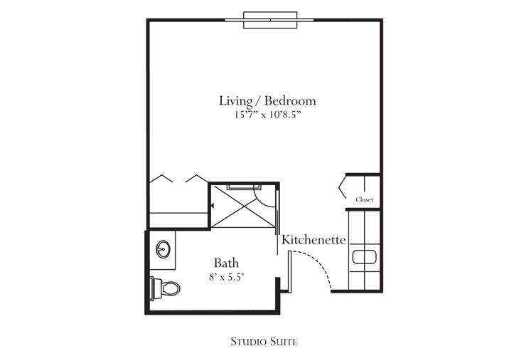 Noblesville Memory Care Fillmore Floor Plan