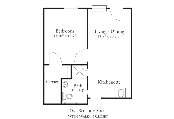 Noblesville Memory Care Lincoln Floor Plan