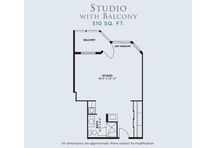 Palms of Fort Meyers Memory Care Studio Floor Plan