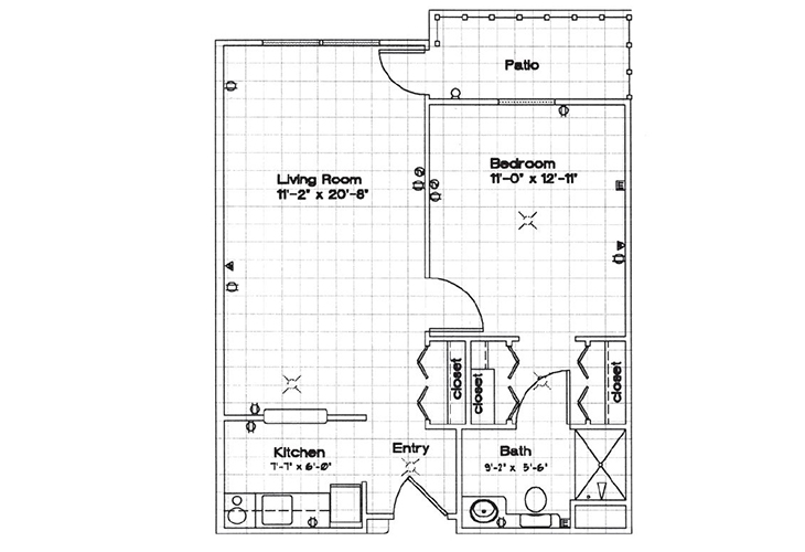Park Square Manor Independent Living One Bedroom Floor Plan