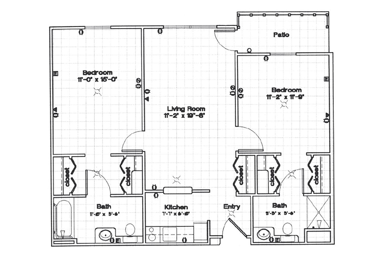 Park Square Manor Independent Living Two Bedroom Floor Plan