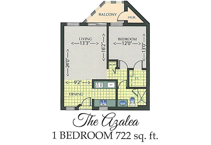 Park Summit Assisted Living The Azalea Floor Plan