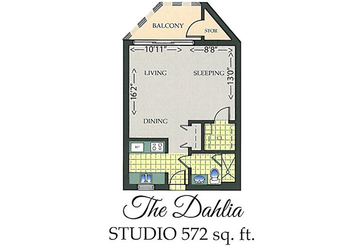 Park Summit Assisted Living The Dahlia Floor Plan