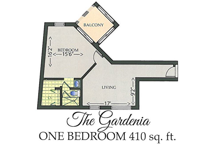 Park Summit Asssited Living The Gardenia Floor Plan