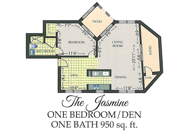 Park Summit Assisted Living The Jasmine Floor Plan