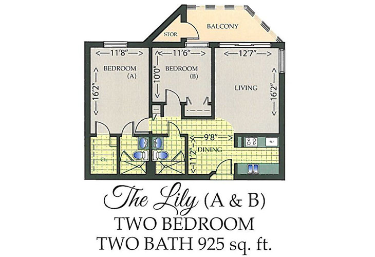 Park Summit Assisted Living The Lily Floor Plan