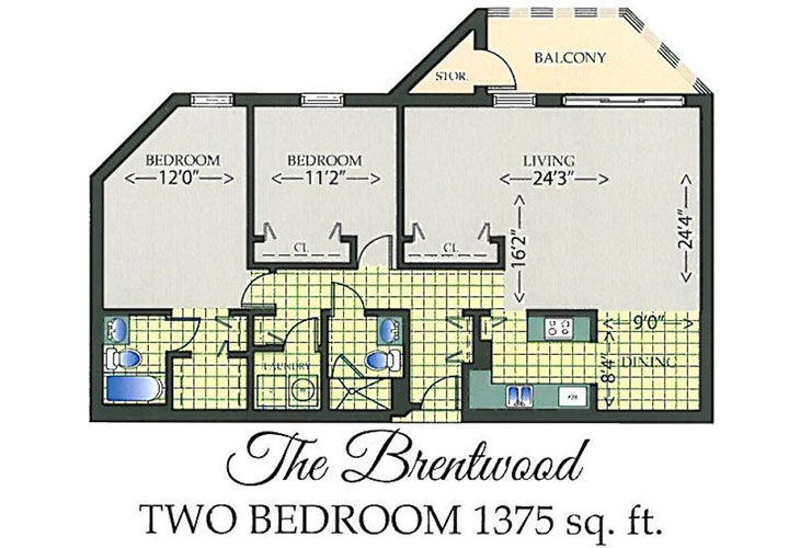 Park Summit Independent Living The Brentwood Floor Plan