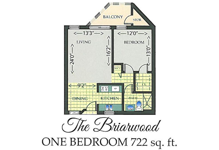 Park Summit Independent Living The Briarwood Floor Plan