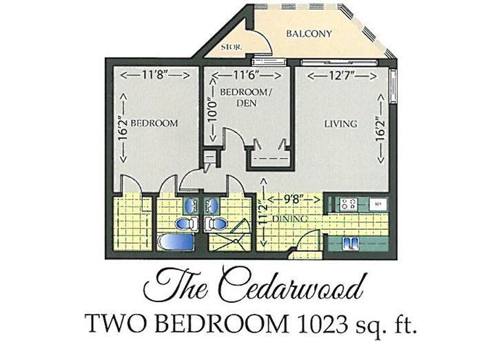 Park Summit Independent Living The Cedarwood Floor Plan