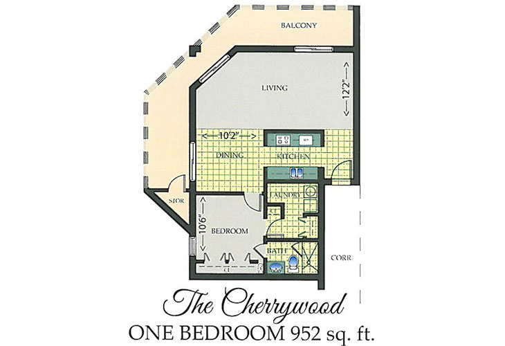 Park Summit Independent Living The Cherrywood Floor Plan