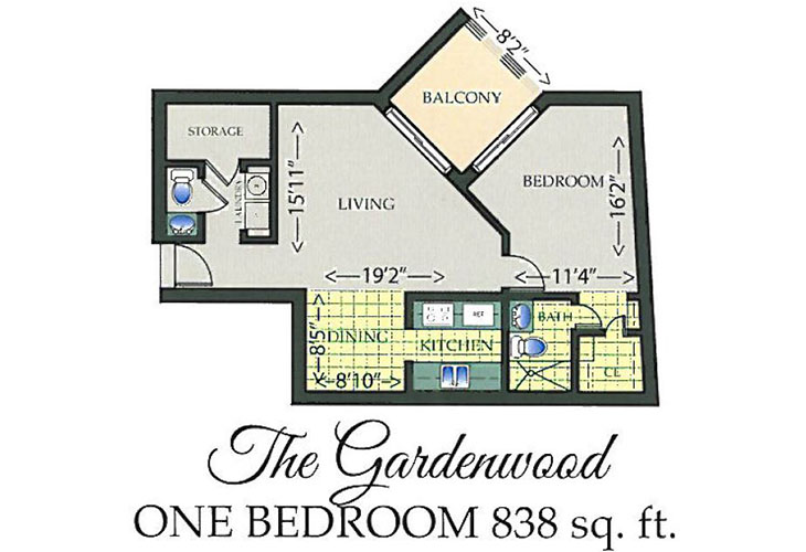 Park Summit Independent Living The Gardenwood Floor Plan
