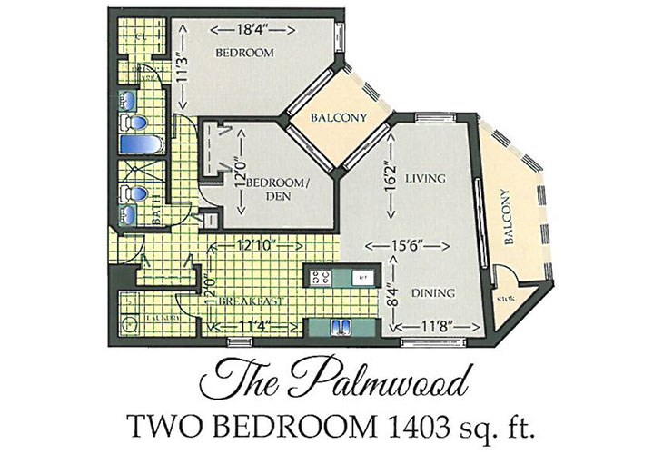 Park Summit Independent Living The Palmwood Floor Plan