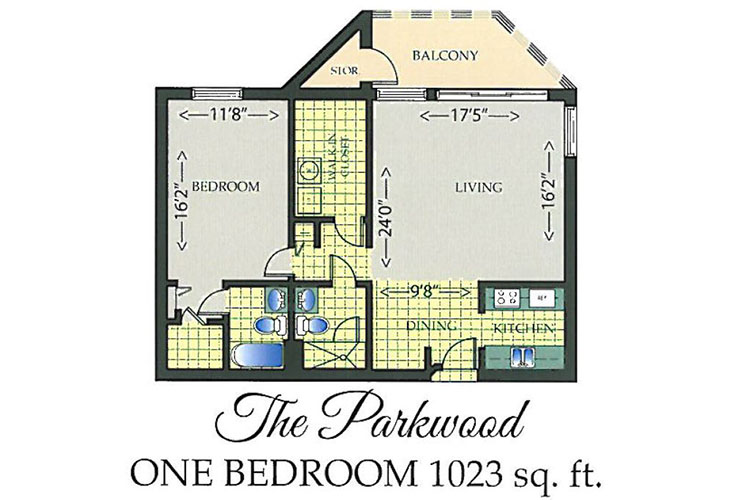 Park Summit Independent Living The Parkwood Floor Plan